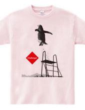 ビーチの飛び込み台にてペンギンくん★挑戦するアニマルシリーズ A
