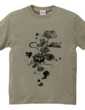 和風シリーズ 墨絵風 蓮の花
