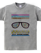 wear colorful glasses
