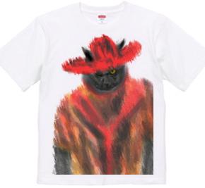 赤い帽子の猫