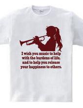 トランペットを吹く少女(R)