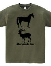 Horse and deer 2014