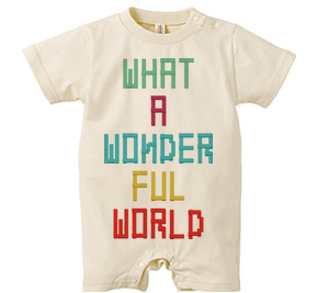 ロンパース/ WHAT A WONDERFUL WORLD