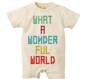 ロンパース/ WHAT A WONDERFUL WORLD