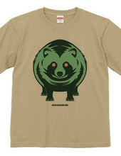 green raccoon dog