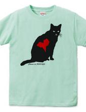 Stray cat silhouette  heartmark
