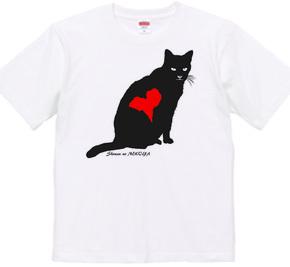 のら猫シルエット(ハートマーク)