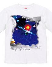 雲が開けたら宇宙が見える
