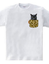 Fake pocket and stray cat