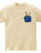 のら猫 フェイクポケット&カモフラージュ柄