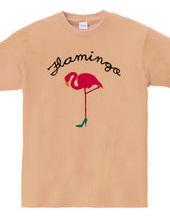 ヒールを履いたフラミンゴ