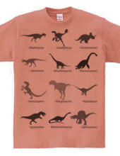 恐竜図鑑。白黒Ver.