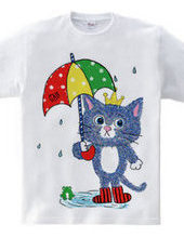 Cat king with Umbrella