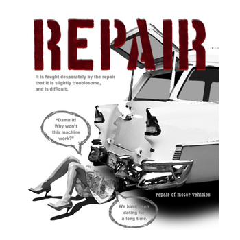 Repair girl D Repair girl E-mono