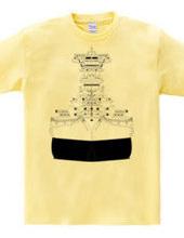 Battleship 01 (モノクロ)