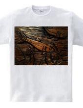 木彫りアユ