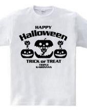 Halloween Black Cat  triple style