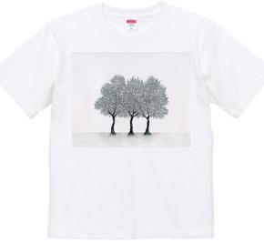 木が三本並んだ絵