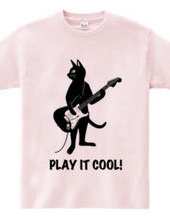 Cat playing the guitar