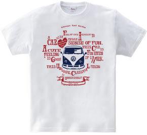 Retro VW VAN sign B