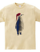 Santa hat penguin A