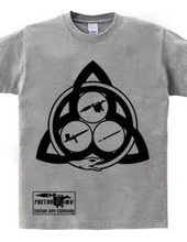 ウロボロス トリニティ(黒) 半袖 Tシャツ  【FACTOR 3 INK】