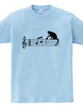ネコ、音符にちょっかい ver.1