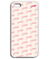 花柄の豹柄 iPhone5&6(桜)