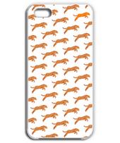 花柄の豹柄 iPhone5&6(明)