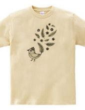 ふわふわの小鳥のしっぽ