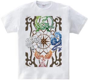 四神トライバル カラーバリエーション02