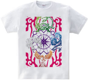 四神トライバル カラーバリエーション03