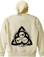 Ouroboros Trinity zip-up Hoodie (black)