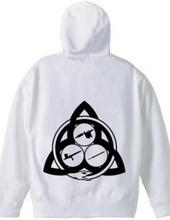 Ouroboros Trinity zip-up Hoodie (black)