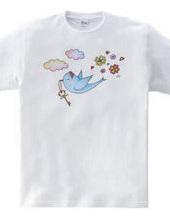 幸せの鍵を運ぶ青い小鳥。