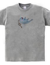 幸せの鍵を運ぶ青い小鳥が1羽。