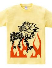 キング(Lion)トライバル デザインパターン01