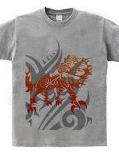 キング(Lion)トライバル デザインパターン02