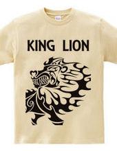 キング(Lion)トライバル デザインパターン03 -black-