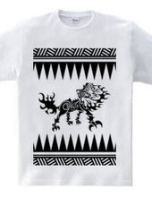 キング(Lion)トライバル デザインパターン04 -black-