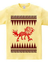 King  (Lion) tribal design pattern 04-re