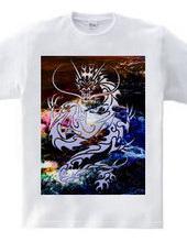 Blue Dragon tribal design pattern 05-02
