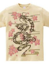 龍トライバルtype1 デザインパターン01-01 -桜模様-