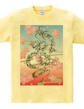 龍トライバルtype1 デザインパターン01-02 -桜模様-