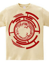 ウロボロス トライバル デザインパターン01-Red-