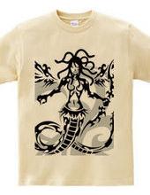 Medusa tribal design pattern 04