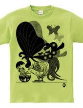 鶏蝶の親子