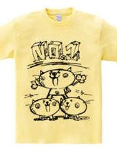 NO1ネコバンザ 組体操Tシャツ