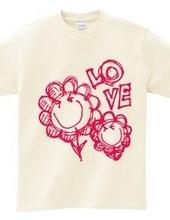 ハッピースマイルフラワーTシャツ