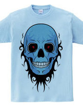 TRIBAL SKULL (blue)